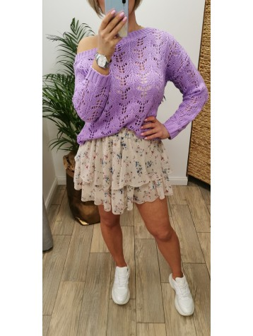 Sweterek ażurkowy